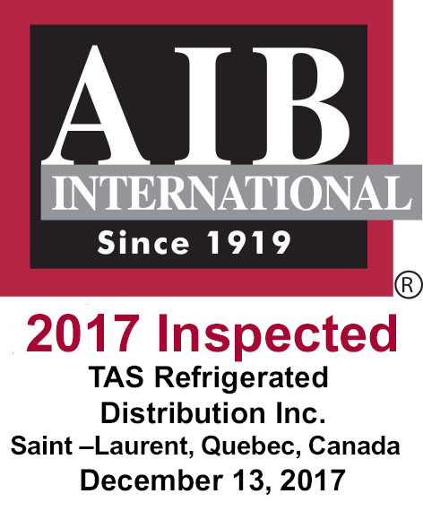 CFIA, Canadian HACCP, AIB International Certifications | TAS
